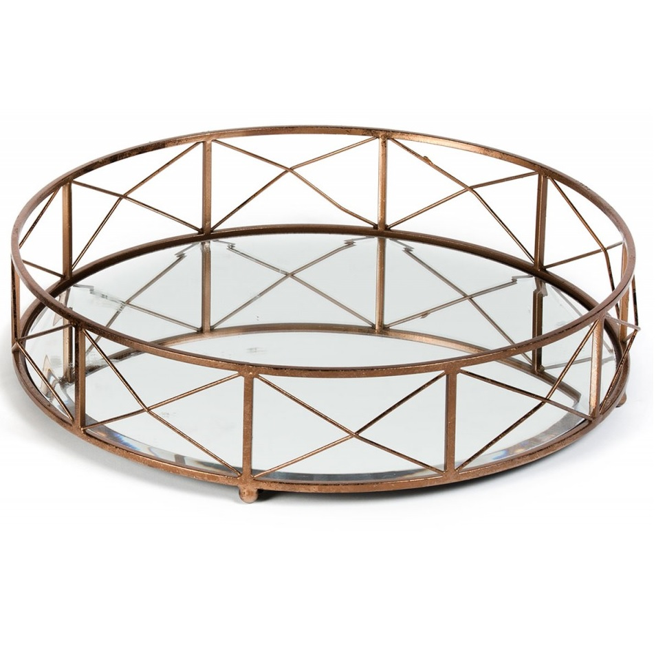 Round Mirror Tray Small