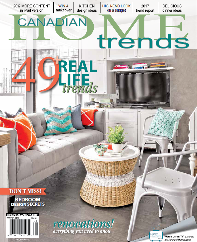 Pick up your FREE Canadian Home Trends Winter 2017 Magazine at Lux